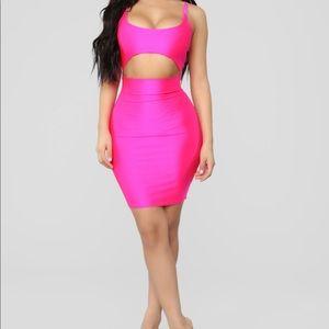 Women's Hot Pink Mini Dress